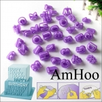 40Pcs Alphabet Letter Number Fondant Cake Snacks Baking Mould Co