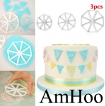 3pcs Easy Bunting Cutters Icing Fondant Sugarcraft Mould Cake De
